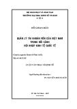 Luận văn: QUẢN LÝ TÀI KHOẢN VỐN CỦA VIỆT NAM TRONG BỐI CẢNH HỘI NHẬP KINH TẾ QUỐC TẾÁ