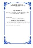 Luận văn: MỘT SỐ GIẢI PHÁP NHẰM NÂNG CAO NĂNG LỰC CẠNH TRANH TẠI NGÂN HÀNG Á CHÂU TRONG XU THẾ HỘI NHẬP