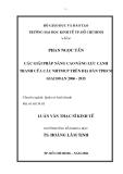 Luận văn: CÁC GIẢI PHÁP NÂNG CAO NĂNG LỰC CẠNH TRANH CỦA CÁC NHTMCP TRÊN ĐỊA BÀN TPHCM GIAI ĐOẠN 2006 - 2015