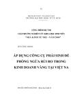Luận văn: Áp dụng công cụ phái sinh để phòng ngừa  rủi ro tronng kinh  doanh vàng tại Việt Nam