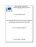 Luận văn đề tài quản trị rủi ro tín dụng tại sở giao dịch 2 ngân hàng công thương Việt Nam