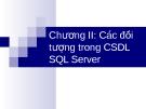 Chương II: Cac đối tượng trong CSDL SQL Server