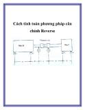 Cách tính toán phương pháp cân chỉnh Reverse