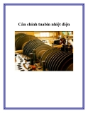 Cân chỉnh tuabin nhiệt điện