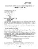 CHƯƠNG 4: CỔNG LOGIC VÀ CÁC ĐẶC TÍNH KỸ THUẬT CỦA IC SỐ