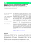 Báo cáo khoa hoc : Quaternary structure, conformational variability and global motions of phosphoglucosamine mutase
