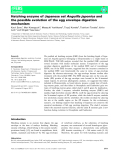 Báo cáo khoa hoc : Hatching enzyme of Japanese eel Anguilla japonica and the possible evolution of the egg envelope digestion mechanism