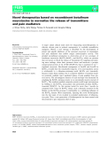 Báo cáo khoa hoc : Novel therapeutics based on recombinant botulinum neurotoxins to normalize the release of transmitters and pain mediators
