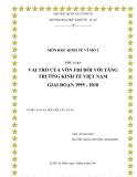 TIỂU LUẬN: VAI TRÒ CỦA VỐN FDI ĐỐI VỚI TĂNG TRƯỞNG KINH TẾ VIỆT NAM GIAI ĐOẠN 1995 - 2010