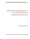 Tiểu luận:Những đặc điểm chung của các nước đang phát triển, liên hệ thực tiễn Việt Nam