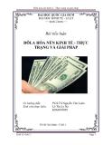 Tiểu luận:Đôla hóa nền kinh tế - Thực trạng và giải pháp
