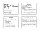 Lý thuyết tài chính tiền tệ - TS:Trần Viết Hoàng