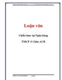 Luận văn: Chiến lược tại Ngân hàng TMCP Á Châu ACB