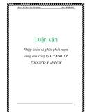 Luận văn: Nhập khẩu và phân phối rượu vang của công ty CP XNK TP TOCONTAP HANO