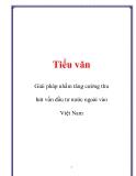 Luận văn: Giải pháp nhằm tăng cường thu hút vốn đầu tư nước ngoài vào Việt Nam