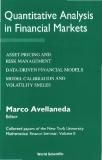 Quantitative Analysis in Financial Markets