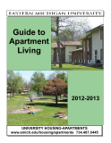 GUIDE TO APARTMENT LIVING 2012-2013