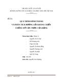 Tiểu luận: QUÁ TRÌNH HÌNH THÀNH VÀ PHÂN TÍCH ĐƯỜNG LỐI KHÁNG CHIẾN  CHỐNG MỸ CỨU NƯỚC CỦA ĐẢNG