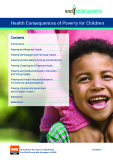 Health Consequences of	Poverty for Children