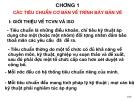 Chương 1 Các tiêu chuẩn cơ bản về trình bày bản vẽ