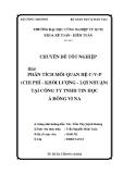 Luận văn: Phân tích mối quan hệ C-V-P (Chi phí - Khối lượng - Lợi nhuận) tại công ty TNHH Tin Học Á Đông Vi Na
