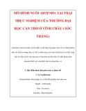 MÔ HÌNH NUÔI ARTEMIA TẠI TRẠI THỰC NGHIỆM CỦA TRƯỜNG ĐẠI HỌC CẦN THƠ Ở VĨNH CHÂU ( SÓC TRĂNG)