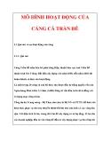 MÔ HÌNH HOẠT ĐỘNG CỦA CẢNG CÁ TRẦN ĐỀ