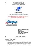 Tiểu luận: Phân tích báo cáo tài chính Tổng công ty phát triển Đô thị Kinh Bắc - KBC