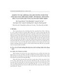 """Báo cáo """" Nghiên cứu đặc điểm địa hóa môi trường trầm tích tầng mặt vùng biển Phan Thiết - Hồ Tràm phục vụ sử dụng bền vững tài nguyên thiên nhiên"""""""