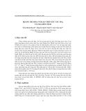 """Báo cáo """" Quang oxi hóa p-XYLE trên xúc tác TiO2 và TiO2 biến tính"""""""