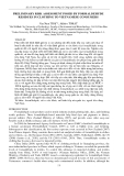 """Báo cáo """" PRELIMINARY RISK ASSESSMENT POSED BY FORMALDEHYDE RESIDUES IN CLOTHING TO VIETNAMESE CONSUMERS """""""
