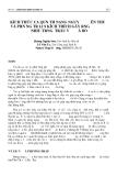 """Báo cáo """"  KÍCH THƯỚC CỦA QUẦN THỂ NANG NGUY ÊN THUỶ VÀ PHẢN ỨNG TRẢ LỜI SỰ KÍCH THÍCH GÂY RỤNG NHIỀU TRỨNG Ở TRÂU VÀ BÒ """""""