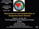 Nomenclature and Classification of  Congenital Heart Disease