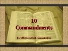 Kỹ năng viết mail bằng tiếng anh - 10 Commandments