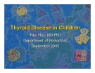 Thyroid Disease in Children