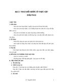 Bài 2: TRAO ĐỔI NƯỚC Ở THỰC VẬT (tiếp theo)