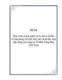 Đề Tài: Quy trình công nghệ xử lý khí ô nhiễm  và ứng dụng tại nhà máy sản xuất dây cáp,  dây thép của công ty TNHH Tùng Hòa  Việt Nam
