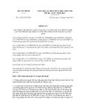 Thông tư số 133/2012/TT-BTC