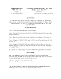 Quyết định số 31/2012/QĐ-UBND