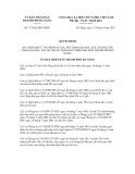 Quyết định số 37/2012/QĐ-UBND