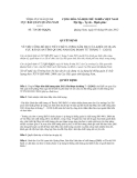 Quyết định số  724/QĐ-HQQNa