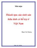 Đề tài: Thành tựu của sinh sản hữu tính có hỗ trợ ở Việt Nam