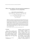 "Báo cáo ""  Effects of the conditions of the microemulsion preparation on the properties of Fe3O4 nanoparticles """