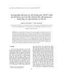 """Báo cáo """" Áp dụng phần mềm thủy lực môi trường nước (EFDC) đánh giá ảnh hưởng của nước thải sinh hoạt đến chất lượng nước Sông Hồng vào mùa khô khu vực Hà Nội """""""