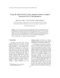 """Báo cáo """" Using the reduced La(Co,Cu)O3 nanoperovskites as catalyst precursors for CO hydrogenation """""""
