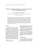 """Báo cáo """" Nghiên cứu khả năng hoàn nguyên của than hoạt tính-xúc tác (THT-XT) bằng không khí nóng """""""