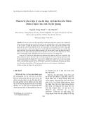 """Báo cáo """"  Phân tích yếu tố địa lý của hệ thực vật khu Bảo tồn Thiên nhiên Chạm Chu, tỉnh Tuyên Quang """""""