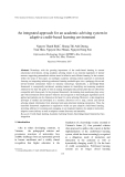 """Báo cáo """" An integrated approach for an academic advising system in adaptive credit-based learning environment """""""