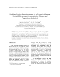 """Báo cáo """" Modeling Foreign direct investment by a Prisoner's dilemma: Greenfield investment (cooperation) or Mergers and Acquisitions (defection) """""""