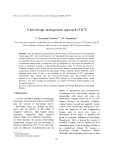 "Báo cáo "" A knowledge management approach of ICT """